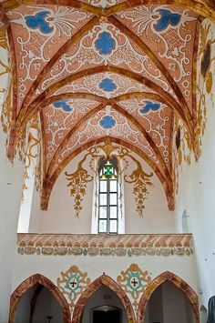 Interior of the Red Monastery church.  SLOVAKIA