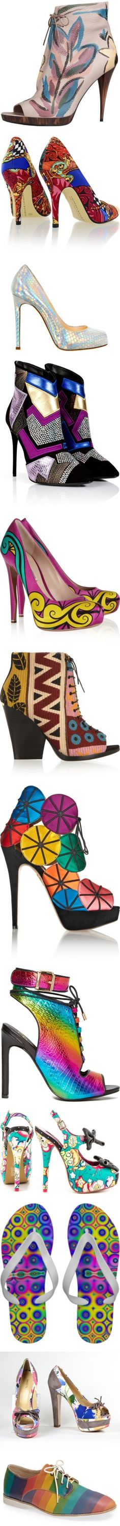 * SHOES: RAINBOW & MULTICOLORED * by artist4god-rose-santuci-sofranko on Polyvore featuring polyvore, fashion, shoes, boots, ankle booties, heels, burberry, ankle boots, platform ankle boots, heeled ankle boots, peep toe bootie, short leather boots, leather peep toe booties, pumps, chinese laundry pumps, multicolor pumps, high heel shoes, satin pumps, colorful shoes, short black boots, black boots, black suede ankle booties, black booties, high heel ankle boots, hidden platform pumps, square…