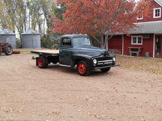 A one ton International Harvester truck.