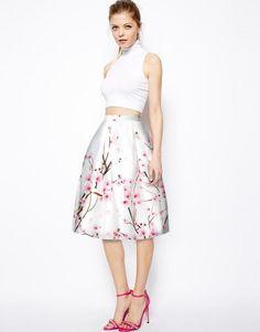 Women Peach Blossom High Waist Skirt Swing Skirt Umbrella Skirt Pleated Skirt  | Clothing, Shoes & Accessories, Women's Clothing, Skirts | eBay!