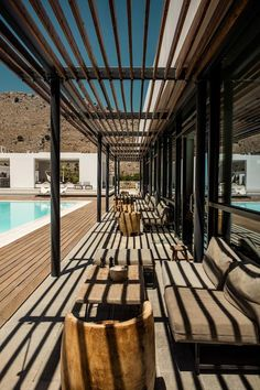 Casa Cook is an affordabe yet very design hotel in Rhodes, direct pool access from every rooms and lots of spaces designed to suit your every need. Outdoor Living Rooms, Outdoor Spaces, Outdoor Decor, Design Hotel, Rustic Design, Rustic Style, Casa Cook Hotel, Backyard, Patio