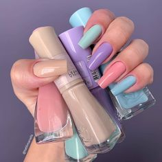 5 Nail Trends To Watch Out For This Summer – Nails art Best Acrylic Nails, Summer Acrylic Nails, Summer Nails, Aycrlic Nails, Swag Nails, Glitter Nails, Coffin Nails, Blush Nails, Multicolored Nails