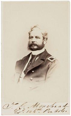 Photography:CDVs, Colonel Turner G. Morehead Carte de Visite Signed.... Image #1