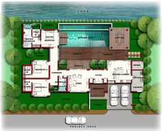 House Plans With A Pool u-shaped house plans with pool in the middle | courtyard