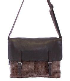 9816e2737277 Brown leather messenger bag
