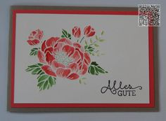 Stampin´UP! jennys_Stempelwelt Grußkarte mit dem Set Geburtstagsblumen in Taupe und Melonensorbet