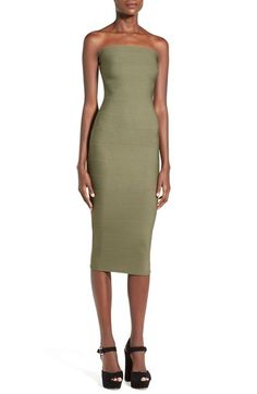Free shipping and returns on MISSGUIDED Strapless Bandage Body-Con Dress at Nordstrom.com. The stretch-knit fabric of a trendy bandage-style body-con dress shows off every curve of your shape from the bodice to the midi-length hem, making it the perfect dress to impress on a fabulous night out.