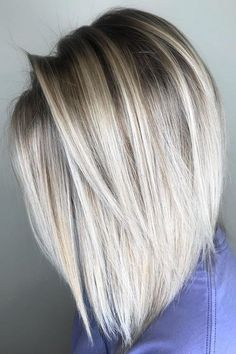 52 Amazing Combinations of Short & Blonde Haircuts for 2018 Balayage – hair ideas Medium Length Hair Straight, Medium Hair Cuts, Short Hair Cuts, Medium Hair Styles, Short Hair Styles, Short Blonde Hair Cuts For Women, Trendy Hair Color For Blondes, Blonde Hair Styles Medium Length, Trendy Hair Colors