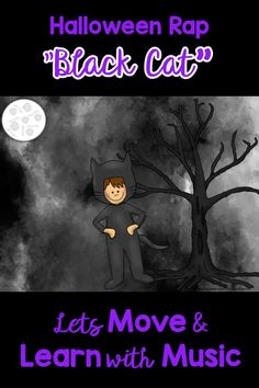 """Get ready for a music class rappin' time with this Original Halloween Chant set to a funky groove. VIDEO TEACHING LESSON of the """"The Black Cat"""" Halloween rap is filled with activities for rhythm, creative movement and a game. Suggested for PreK-3rd Grade. Orff Activities, Movement Activities, Music Education Games, Music Games, Kindergarten Music Lessons, Orff Arrangements, Dance Online, Halloween Music, Music And Movement"""