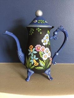 Flower Tea Pot by Georgannself on Etsy