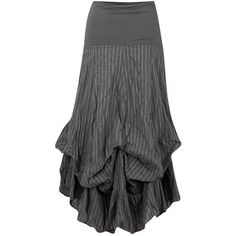 Charcoal hitchy maxi skirt ($52) found on Polyvore