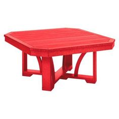 Outdoor CR Plastic St Tropez 35 in. Square Cocktail Table Red - T30-01, Durable