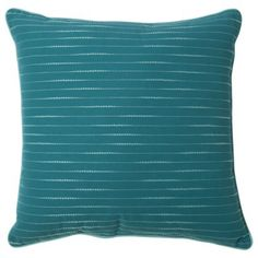 """Room Essentials® Embroidered Stripe Toss Pillow (18x18"""")"""