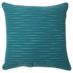 "Room Essentials® Embroidered Stripe Toss Pillow (18x18"")-Target.com"