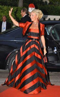Princess Camilla of Bourbon-Two Sicilies, Duchess of Castro attends the Monaco Wedding dinner.