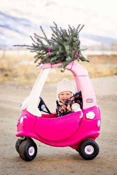 Our version of the cozy coupe Christmas tree shot taken by @Savannah Johnson