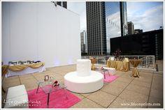 Millennium Park Rooftop Terrace Wedding outdoor cocktail area