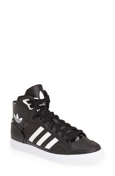adidas 'Extaball' High Top Sneaker (Women) Black/ Core White Size 5 M - $75 on Vein - getvein.com