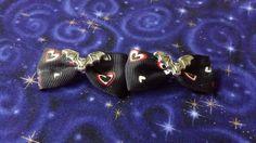 Clearance+Mini+Bat+Hair+Bows++Black+with+hearts+by+Th1rte3nsCloset,+$4.50