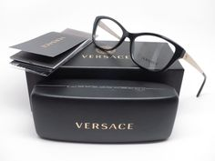 74b4f6bdbe69 Details about Versace VE 3236 GB1 Black Eyeglasses 54mm