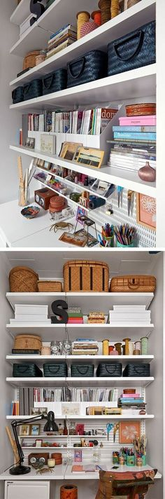 Home offices can be a mess sometimes and often when they aren't a mess they are as cold and lifeless as working in a cubical. But it doesn't have to be that way! You can have a functional office that looks beautiful and is well organized. Here are just a few tips on how to achieve home office perfection.