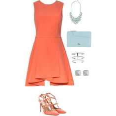 Attending a Wedding by fromphilly on Polyvore featuring polyvore, fashion, style, Alice + Olivia, Valentino, Radley and Vince Camuto