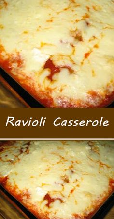 Ravioli Casserole Ravioli Casserole, Easy Casserole Recipes, Casserole Dishes, Tasty Dishes, Food Dishes, Main Dishes, Italian Dishes, Italian Recipes, Lotsa Pasta