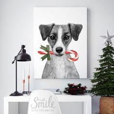 Портрет милого джек рассел терьера непременно вызовет у вас улыбку. Такой постер будет отличным подарком для владельцев этой породы собак. Серия иллюстраций Юлии Григорьевой с животными не оставит равнодушными ни одно сердце.