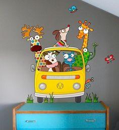 sticker infantil passeio de camioneta