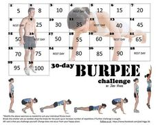 burpee challenge by Jodi Higgs Burpee Challenge, Beach Body Challenge, 30 Day Challenge, Workout Challenge, Monthly Challenge, Challenge Group, Workout Plans, Burpees, Butt Challenges