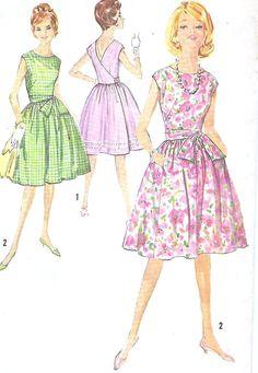 1950s Summer Wrap Around Dress Simplicity 4986 by JFerrariDesigns, $28.00