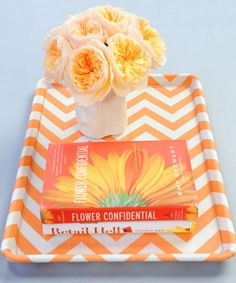 baking sheet covered in fabric--Martha Stewart