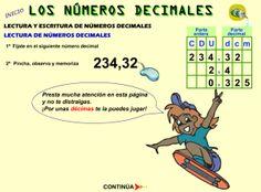 #mateTIC Lectura y escritura de números decimales
