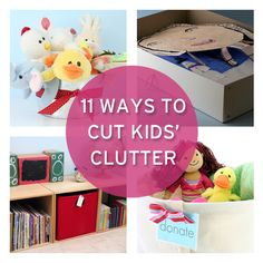 Kids clutter and summer go hand-in-hand. Try these ideas to cut kids' clutter from #simplify101