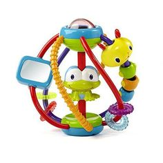 Clack & Slide Activity Ball Toy for Baby Kid Toddler Rattle Beads