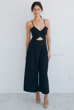 251a9df48ff zara jumpsuit Black Jumpsuit Outfit Night