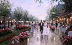 """Boulevard of Flowers""  Artist: Christa Kieffer"