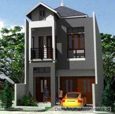 Desain Rumah Minimalis 2 Lantai Type 36 Memanjang