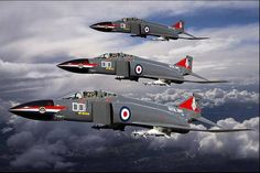 Royal Navy F-4K Phantom FG1, .late 1970s.