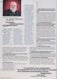 XL Semanal. Abril/Mayo 2015. Nº 1435. JUEGO DE TRONOS. El poder de la dama. Hablamos con la protagonista de la serie de moda, Emilia Clarke. Pg.8 de 8.