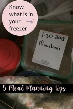 5 Meal Planning Tips