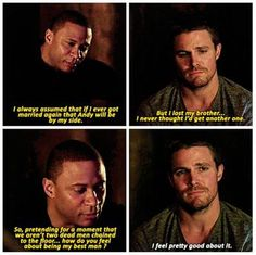 david ramsey (john diggle) / stephen amell (oliver jonas queen / green arrow) - season 3