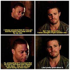 Arrow - Oliver & Diggle #3.15 #Season3 <3