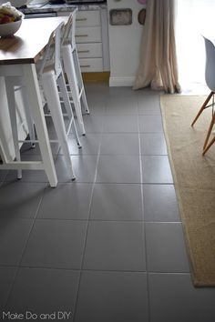 painted tile floor update, six months later, how is it holding up? Painting Ceramic Tile Floor, Painting Bathroom Tiles, Tile Floor Diy, Ceramic Tile Bathrooms, Painting Tile Floors, Painted Kitchen Floors, Painted Floors, Condo Design, House Design