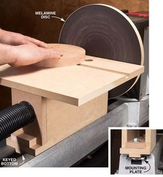 Great idea for turning a lathe into a disc sander. Add a slot perpendicular to the disc for a circle jig. Also consider making the table tilt back to sand sure angles