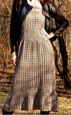 crochet dress The sands of Time by NEGGENKA on Etsy