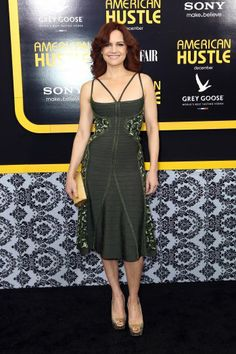'American Hustle' Premiere: Bradley Cooper, Amy Adams, Christian Bale and More Celebrate the Art of the Con Carla Gugino, Lucy Lawless, American Hustle, Emily Deschanel, Grey Goose, Christian Bale, Amy Adams, Hot Brunette, Bradley Cooper