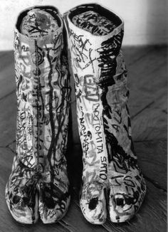 """Maison Martin Margiela is proud to have participated in the exhibition """"Dessine-moi le Japon"""" in Paris with this archive photo from ©Tatsuya Kitayama 90s Shoes, Tabi Shoes, Ugly Shoes, Dior, Walter Van Beirendonck, Hermes, Weird And Wonderful, Clutch, Kelly Wearstler"""