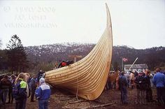 "Gaia kopi av Gokstadskipet - The Gokstad Ship replica ""Gaia"" - Viking ships and norse wooden boats by Jørn Olav Løset, Norway"
