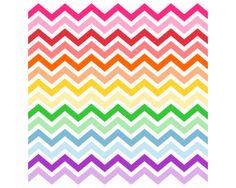 Rainbow Chevron Shower Curtain - Unpersonalized - For the girls bathroom